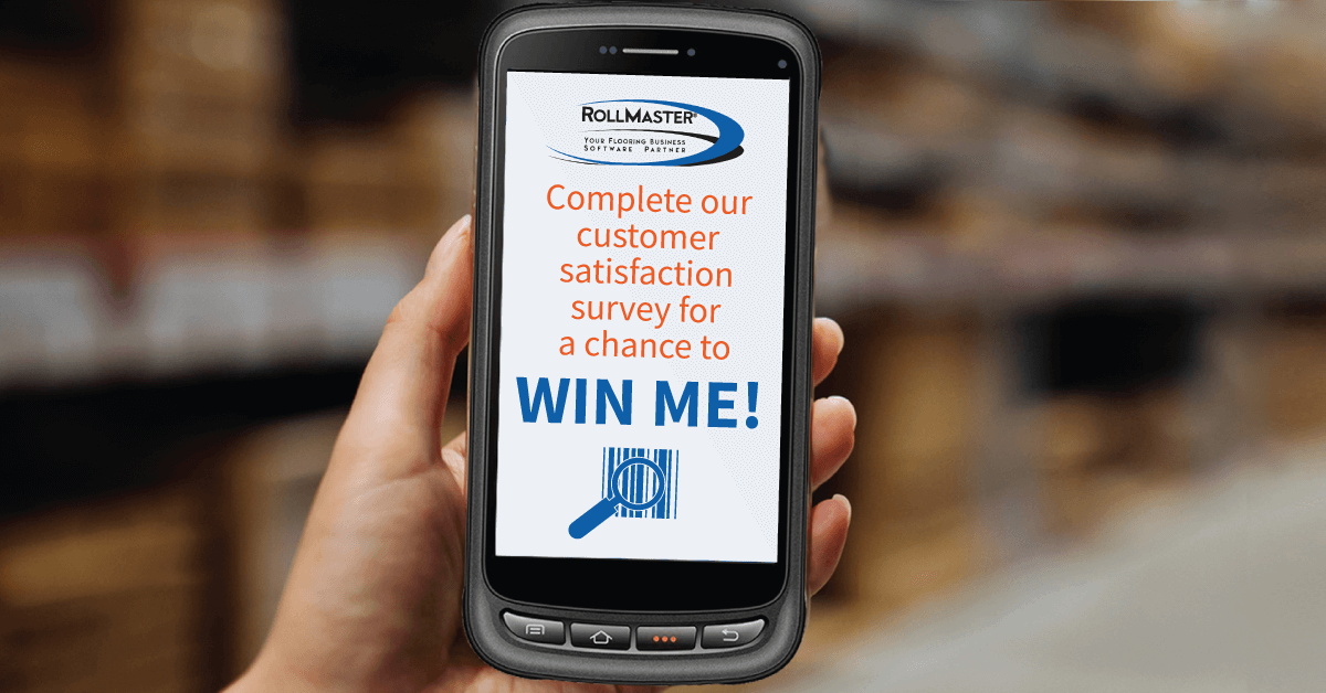 Screenshot on mobile with details of barcode device contest