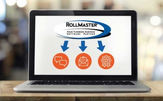 Rollmaster digital marketing hub screenshot on laptop