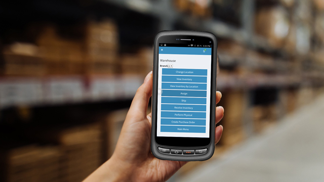 Flooring Inventory Management software on mobile phone